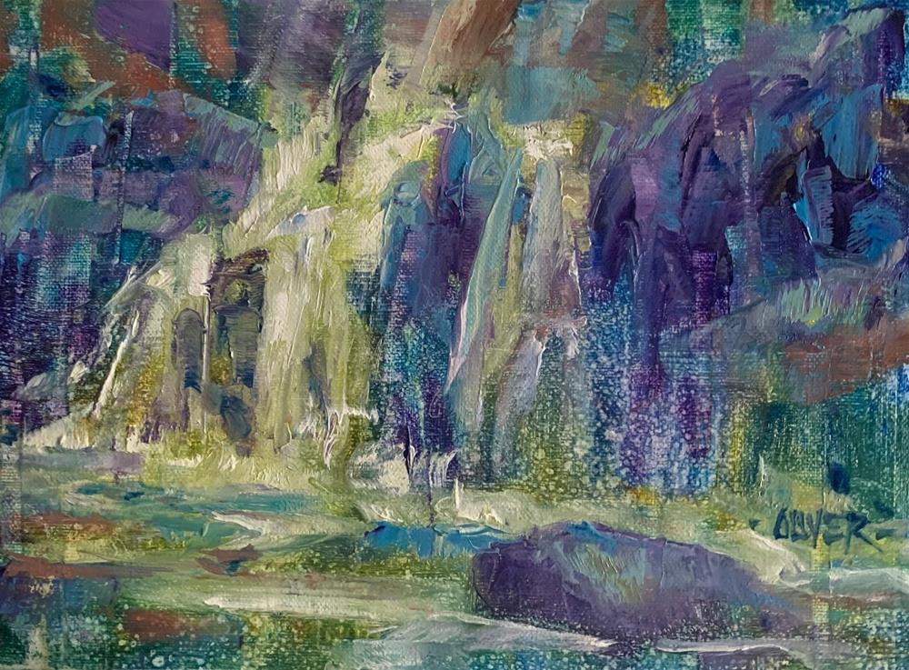 """""""abstracted waterfall"""" original fine art by Julie Ford Oliver"""