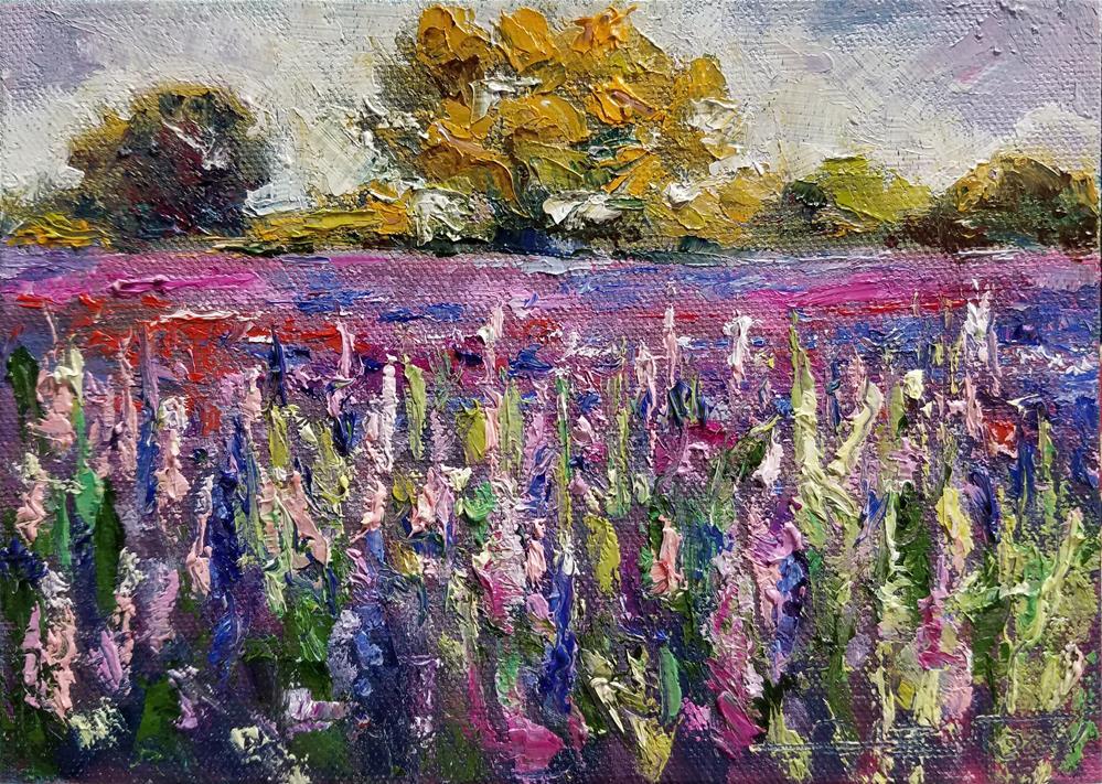"""Landscape 4"" original fine art by Gabriella DeLamater"