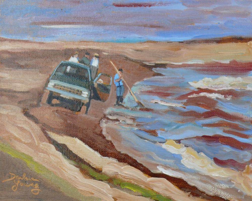 """Gathering Moss, Prince Edward Island"" original fine art by Darlene Young"