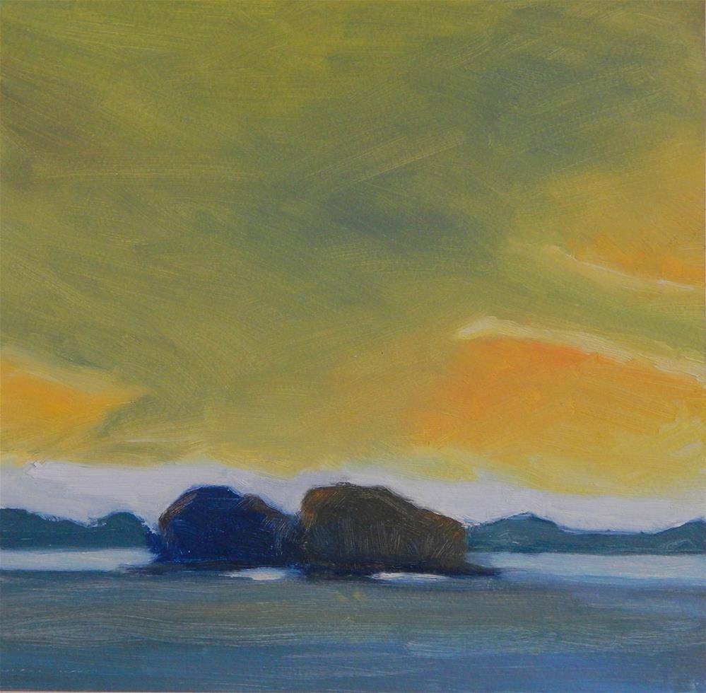 """""""Maine Sky"""" original fine art by Lisa Kyle"""