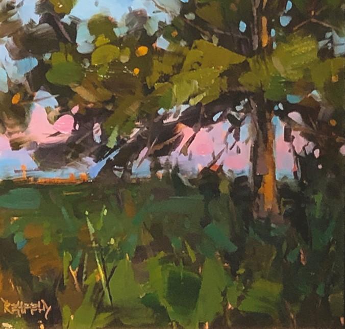 """Ponderosa Sunset"" original fine art by Cathleen Rehfeld"