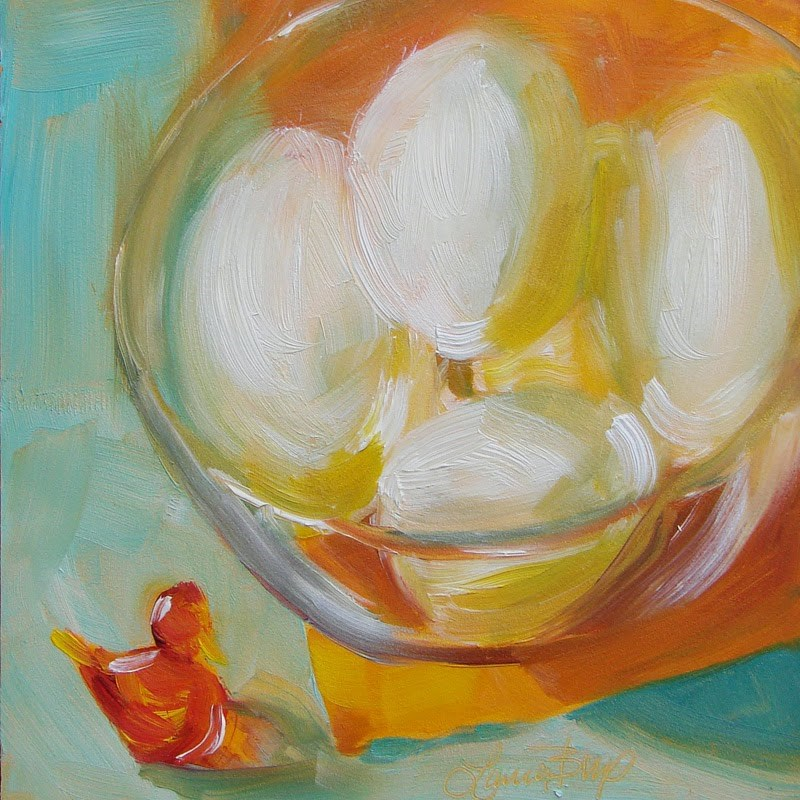 """Hard Boiled - 168"" original fine art by Laura  Buxo"