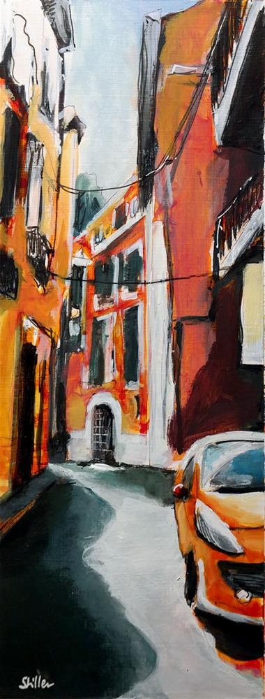 """2400 Palma Streetview 8"" original fine art by Dietmar Stiller"