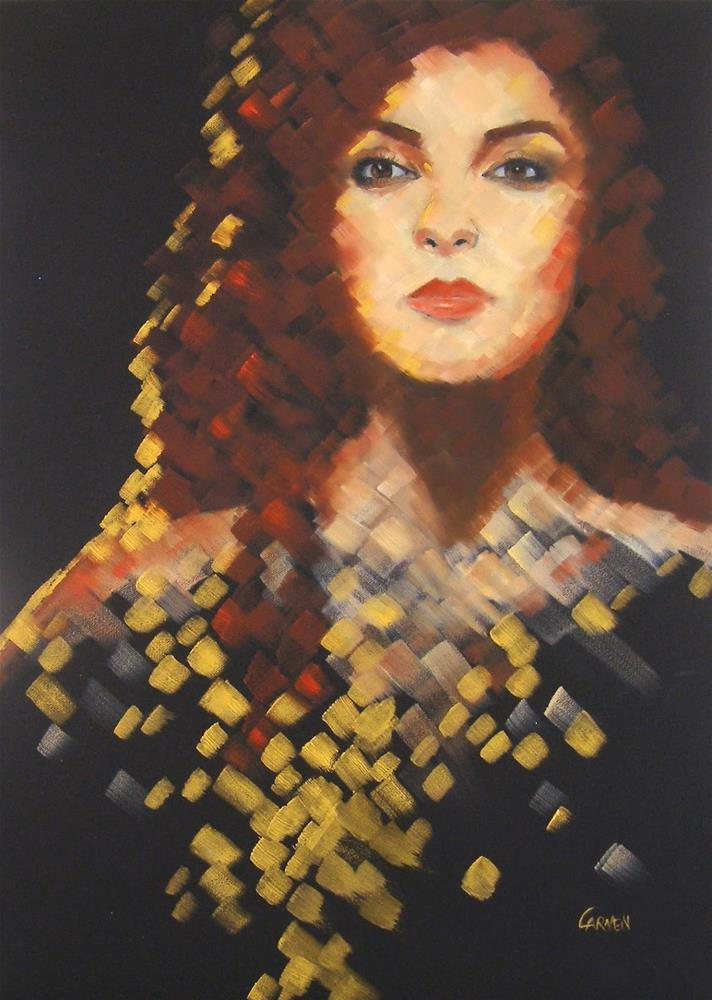 """Glitterati, 18x24 Oil on Canvas"" original fine art by Carmen Beecher"