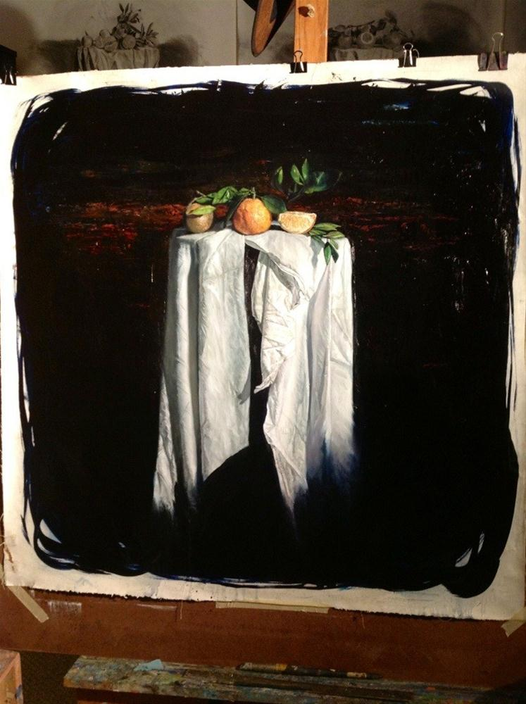 """Florida oranges I"" original fine art by Paulo Jimenez"