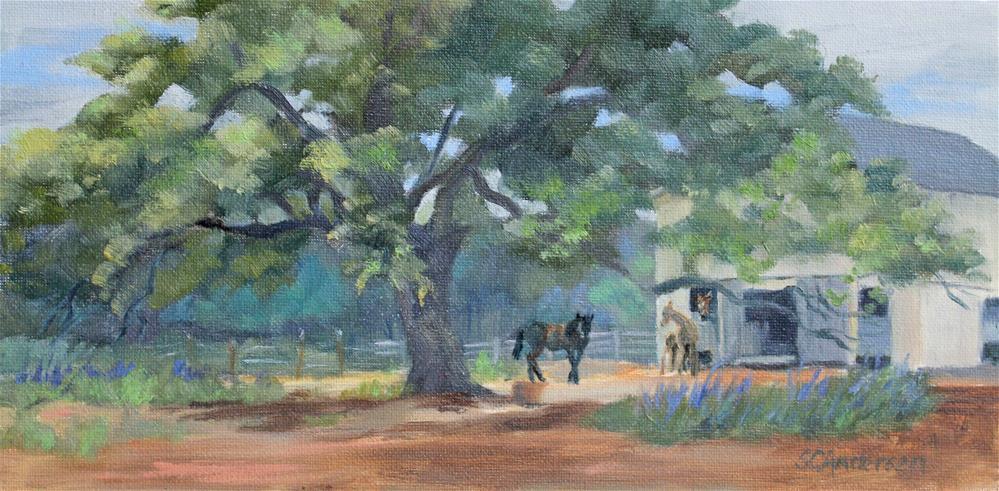 """Barnyard Camaraderie"" original fine art by Susan Andersen"