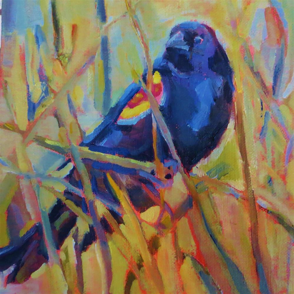 """""""Reedy Redwing"""" original fine art by Scarlet Owl Studio"""