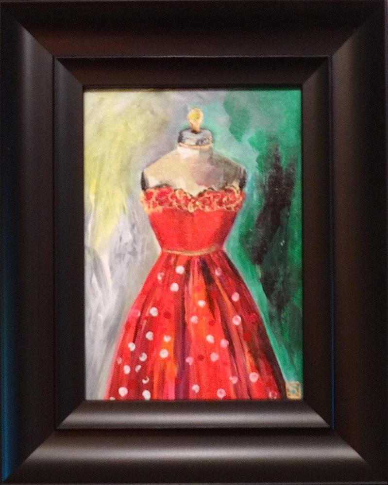 """4114 - Dotty Dress"" original fine art by Sea Dean"