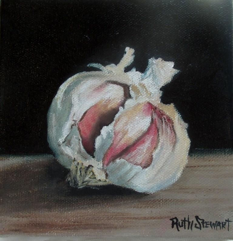 """""""Garlic"""" original fine art by Ruth Stewart"""