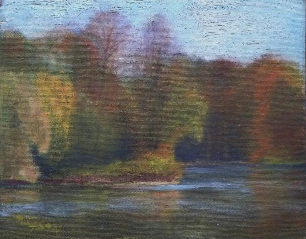 """Lakeside Walk"" original fine art by Michael Sason"