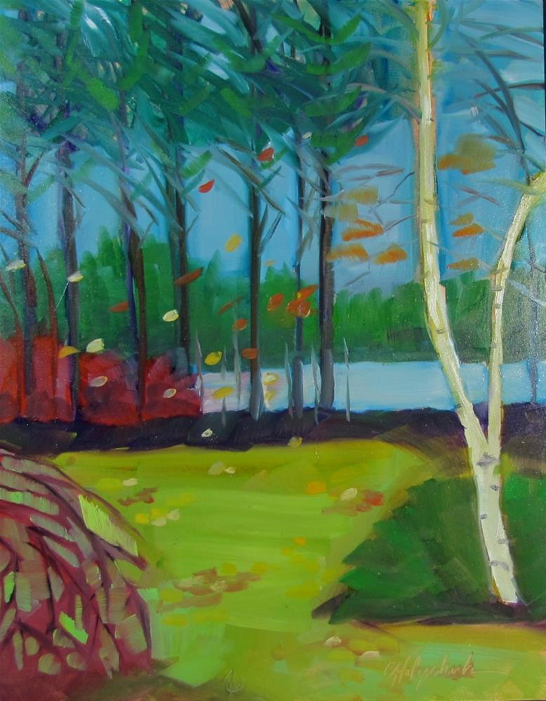 """Leaf Showers"" original fine art by Christine Holzschuh"