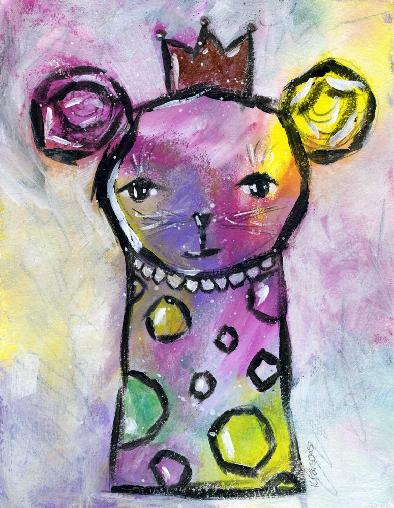 """Rainbow Mouse"" original fine art by Kali Parsons"