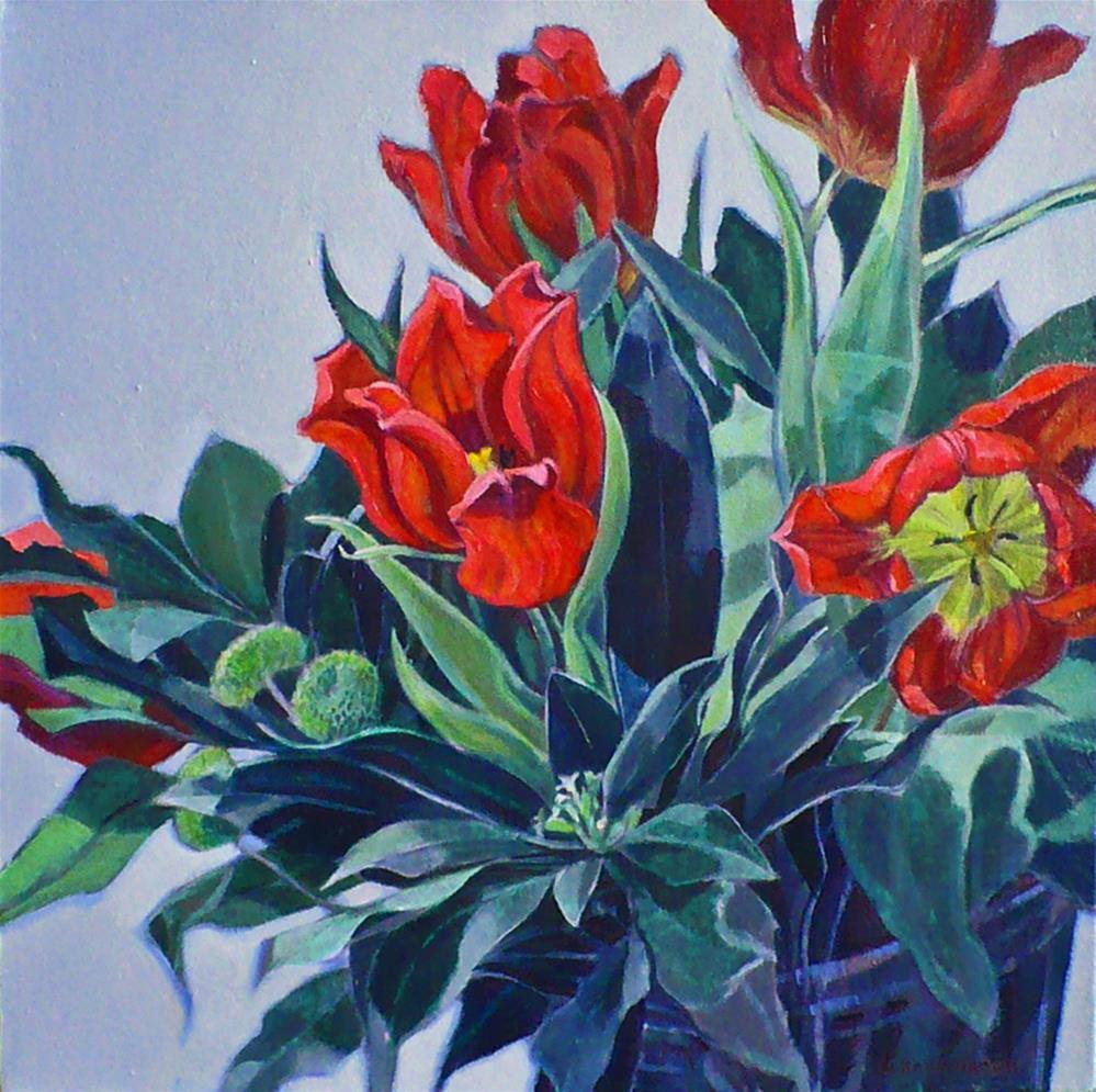 """""""! Spring Blaze"""" original fine art by Nicoletta Baumeister"""