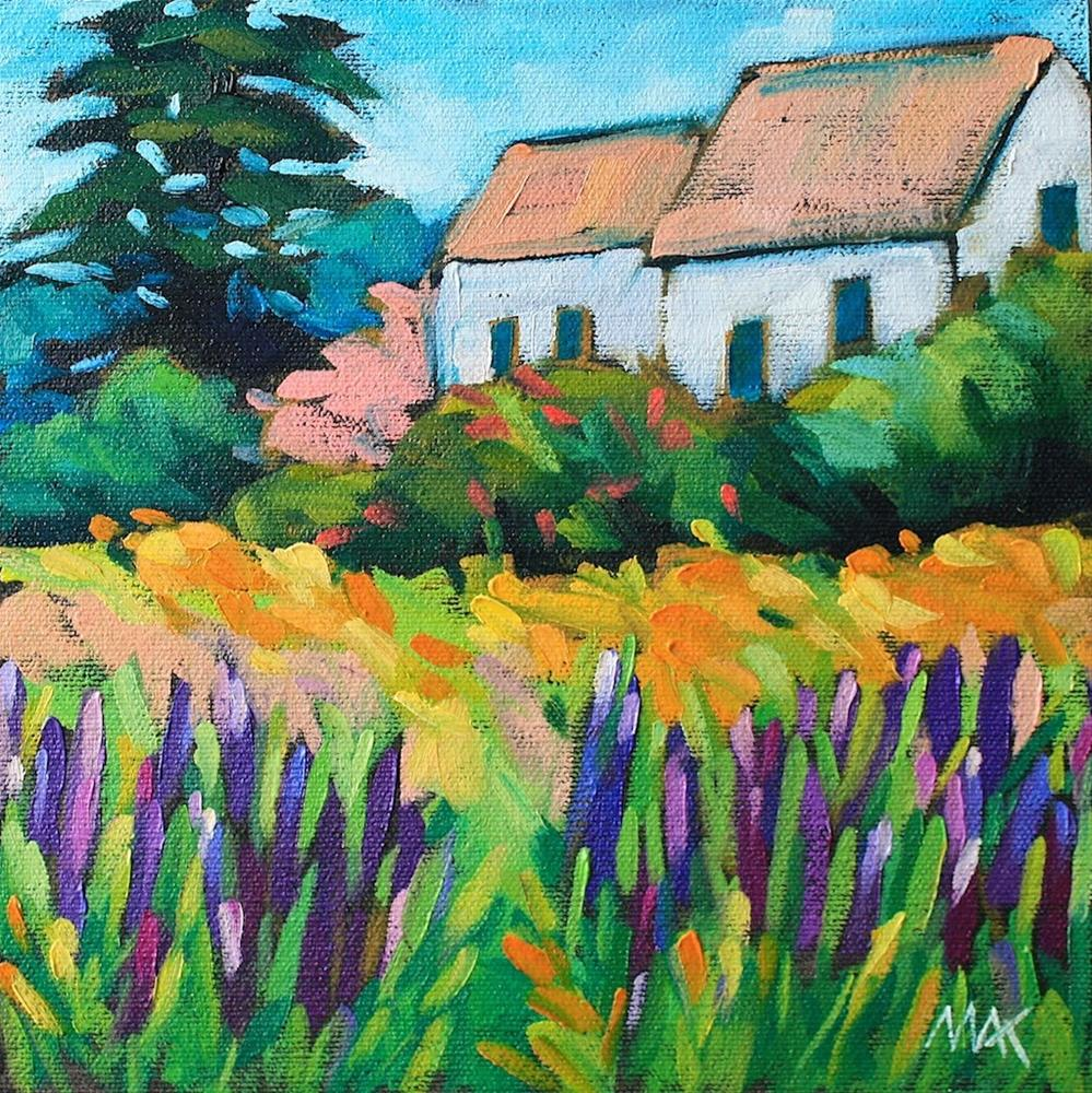 """Country Lupines"" original fine art by Mary Anne Cary"