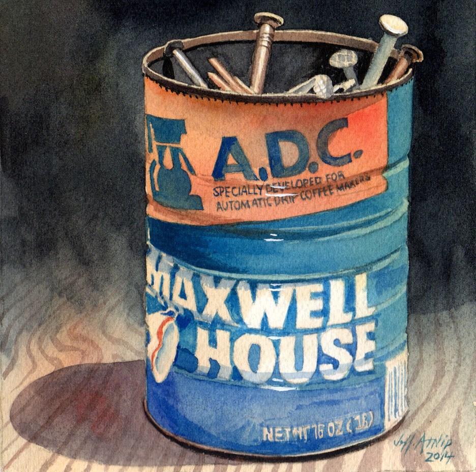 """Can Of Nails"" original fine art by Jeff Atnip"