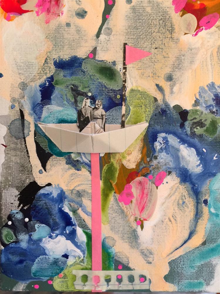 """""""174 Many Rivers to Cross"""" original fine art by Jenny Doh"""