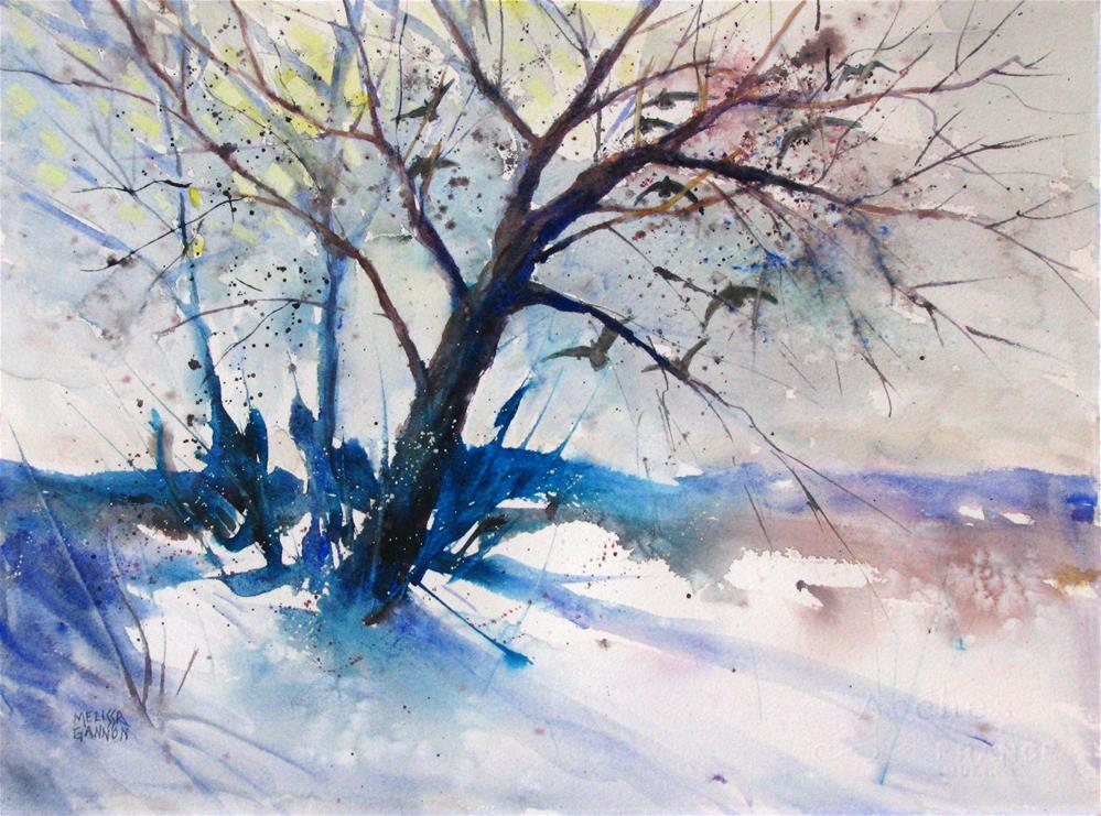 """A Bit of Sun in the Winter"" original fine art by Melissa Gannon"