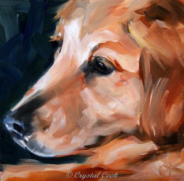 """Gentleness"" original fine art by Crystal Cook"
