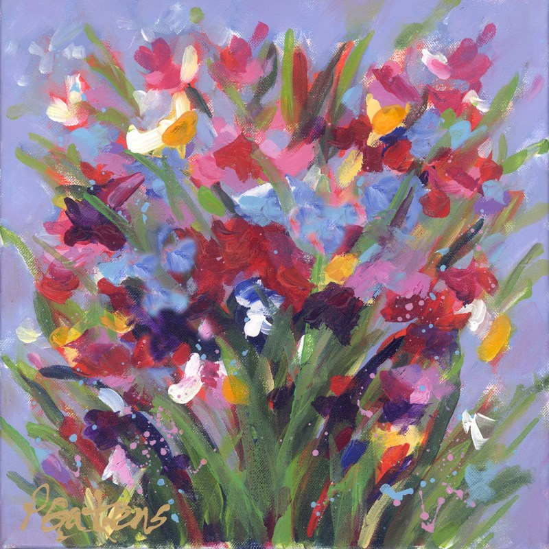 """""""Windy Wildflowers"""" original fine art by Pamela Gatens"""