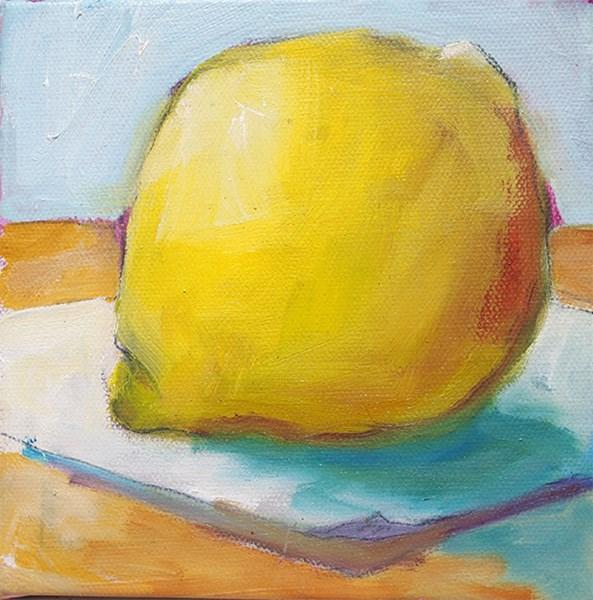 """""""Big Yellow"""" original fine art by Jack Jones"""