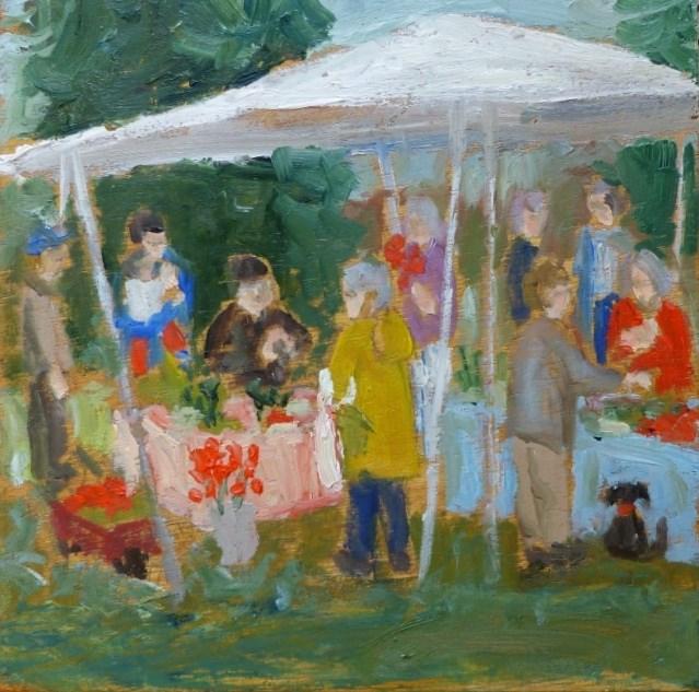 """Island Market"" original fine art by Shari Goddard Shambaugh"
