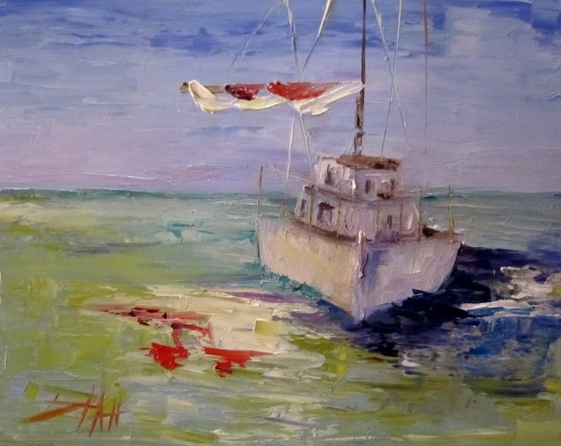 """Sails Down"" original fine art by Delilah Smith"