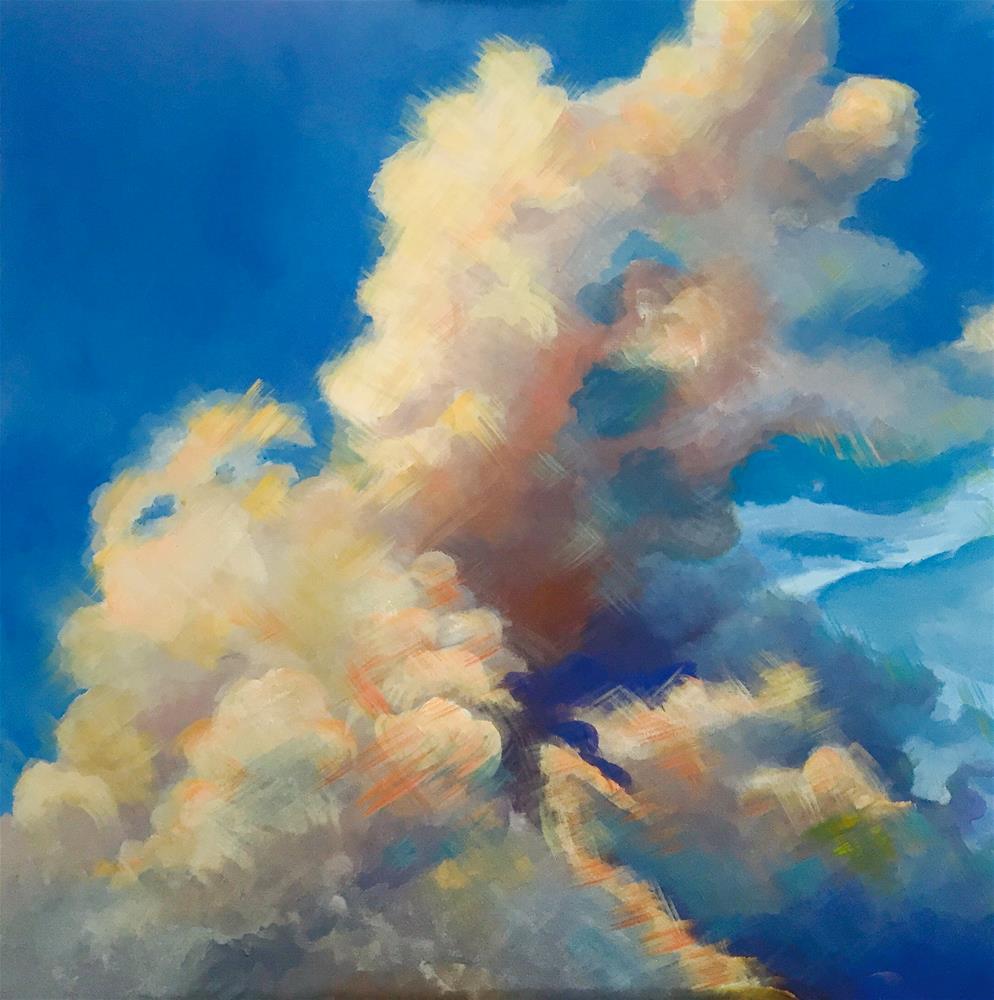 """""""Head in the Clouds"""" original fine art by Bonnie Masdeu"""