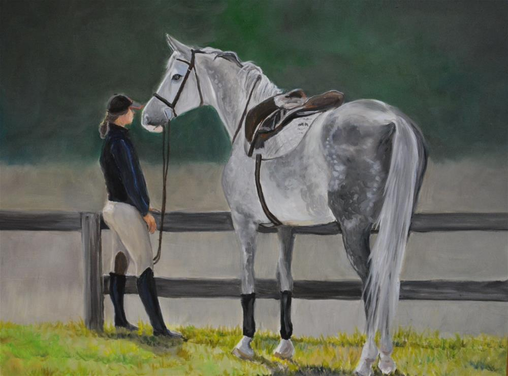 """""""Waiting for the Scores"""" original fine art by Charlotte Yealey"""
