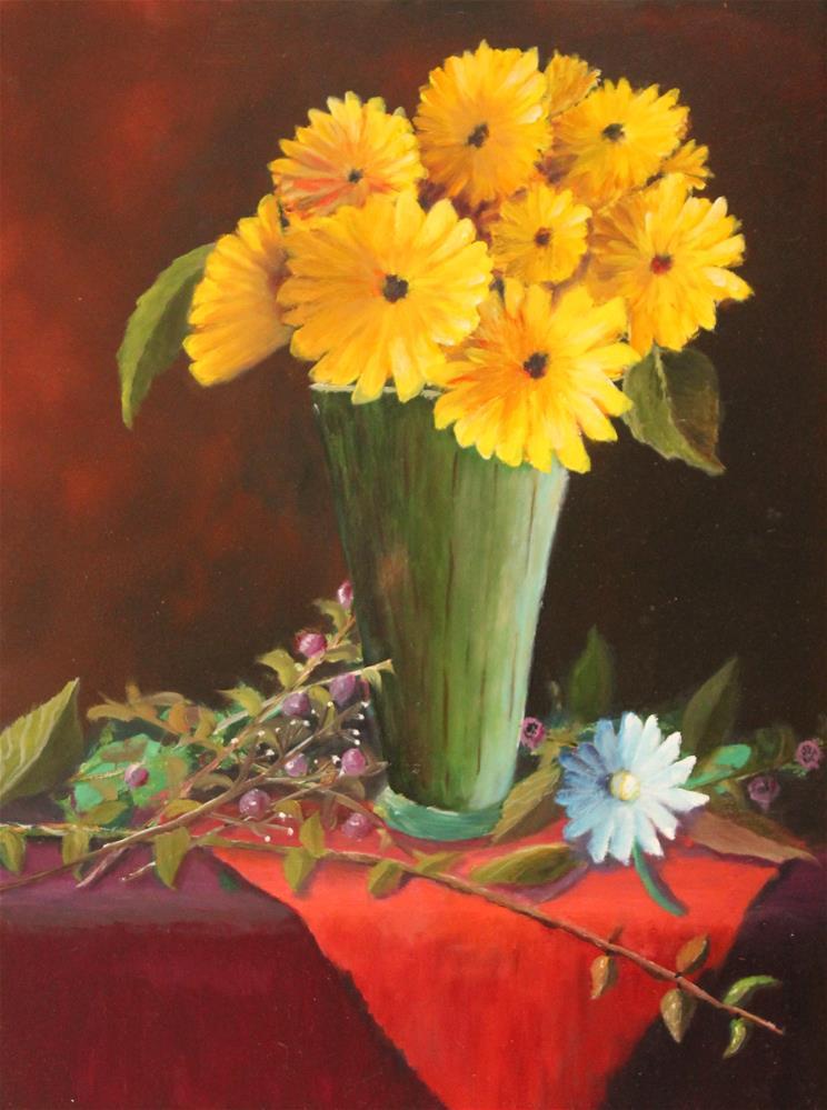 """Gerbera Daisies"" original fine art by Bob Williams"