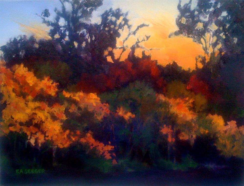 """""""Dog Park Sunset"""" original fine art by Elisabeth Seeger"""