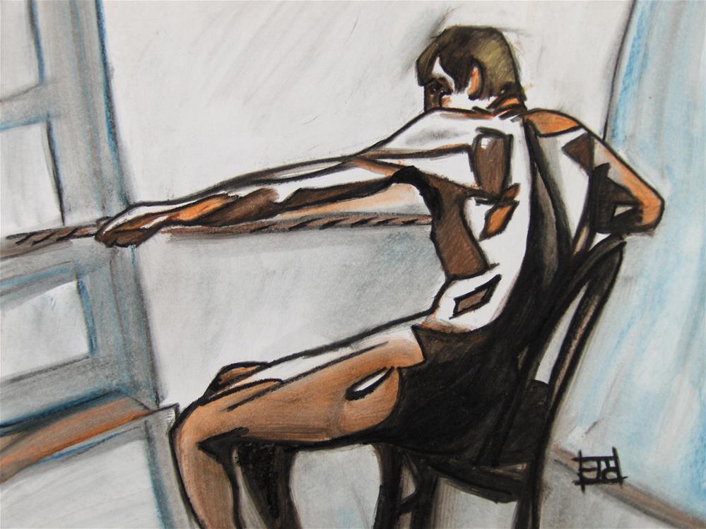 """Laboring Man"" original fine art by Arron McGuire"