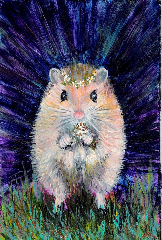 """""""3178 - Country Mouse - Series II"""" original fine art by Sea Dean"""