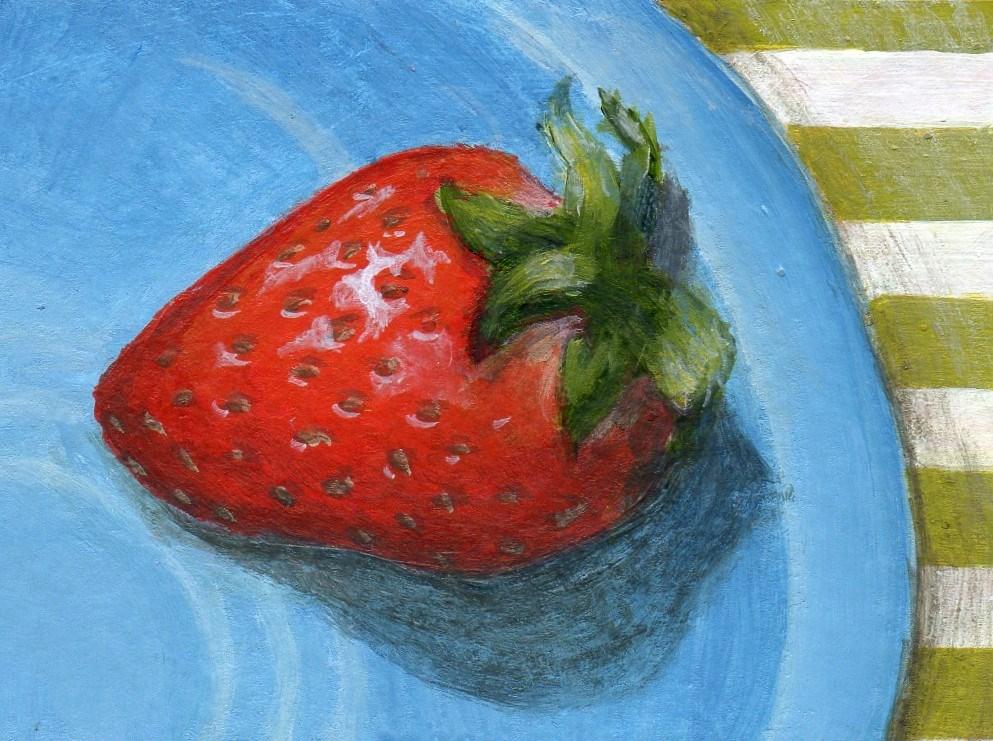 """New Berry"" original fine art by Debbie Shirley"