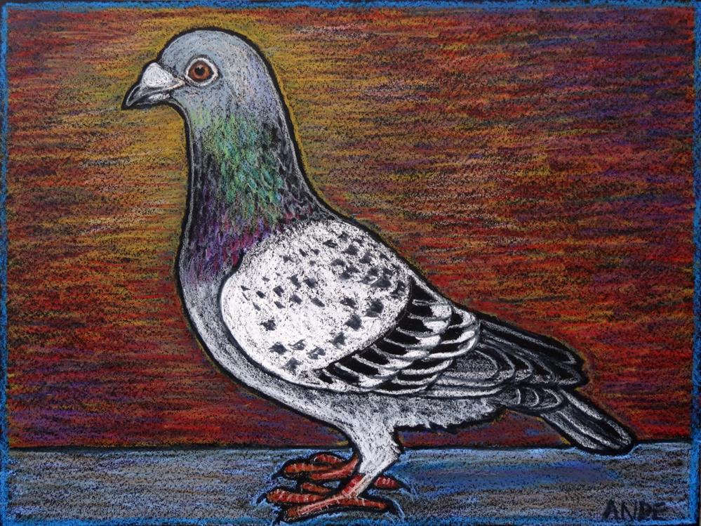"""Racing Pigeon"" original fine art by Ande Hall"