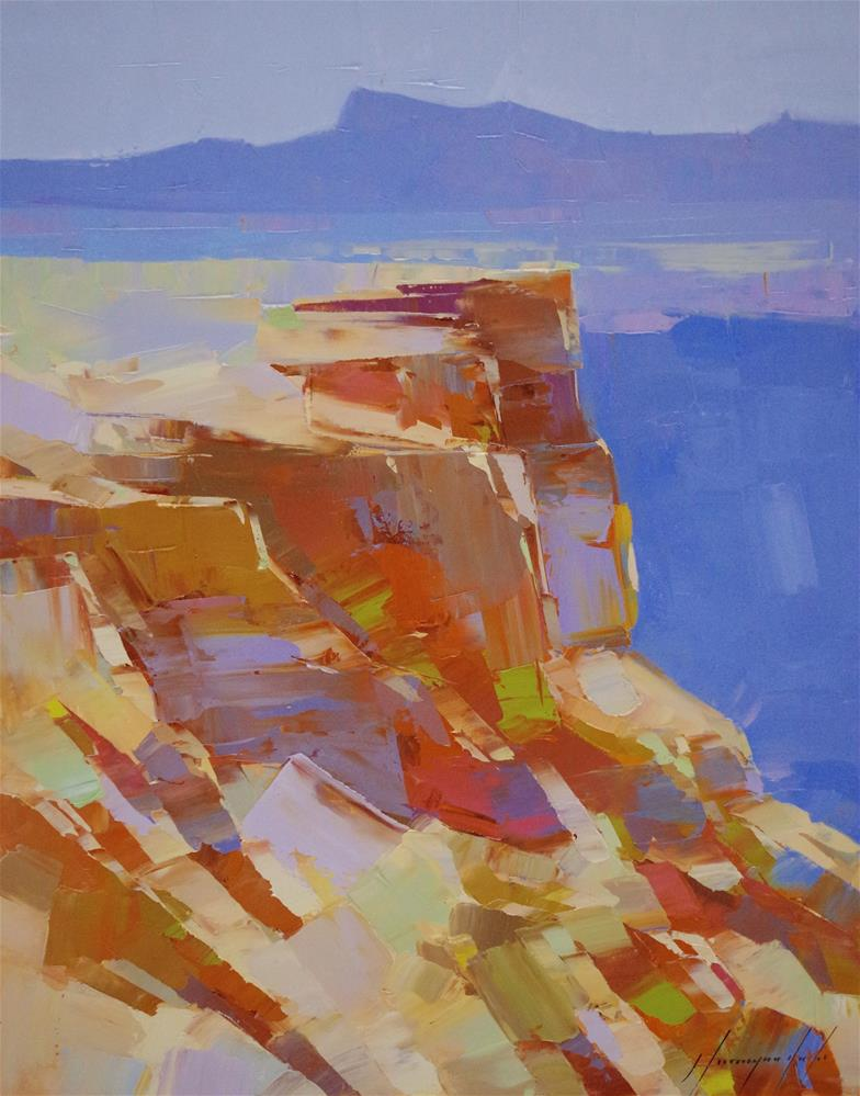 """Grand Canyon, Landscape oil Painting, Handmade art, One of a kind"" original fine art by V Y"