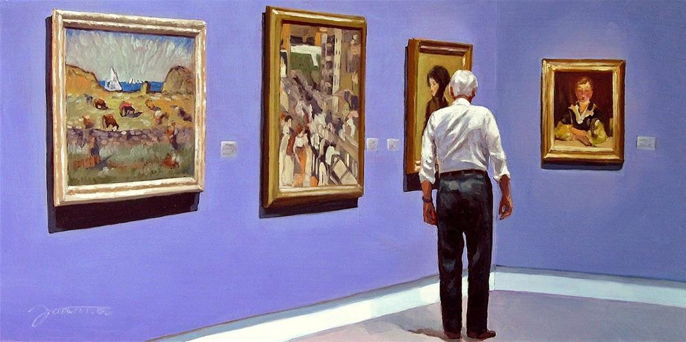 """""""Through American Masters--Painting People in Museum/Gallery Series"""" original fine art by Joanna Bingham"""