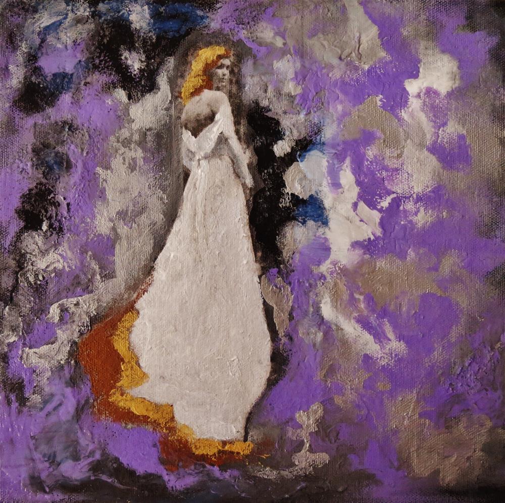"""Her secret"" original fine art by Astrid Buchhammer"