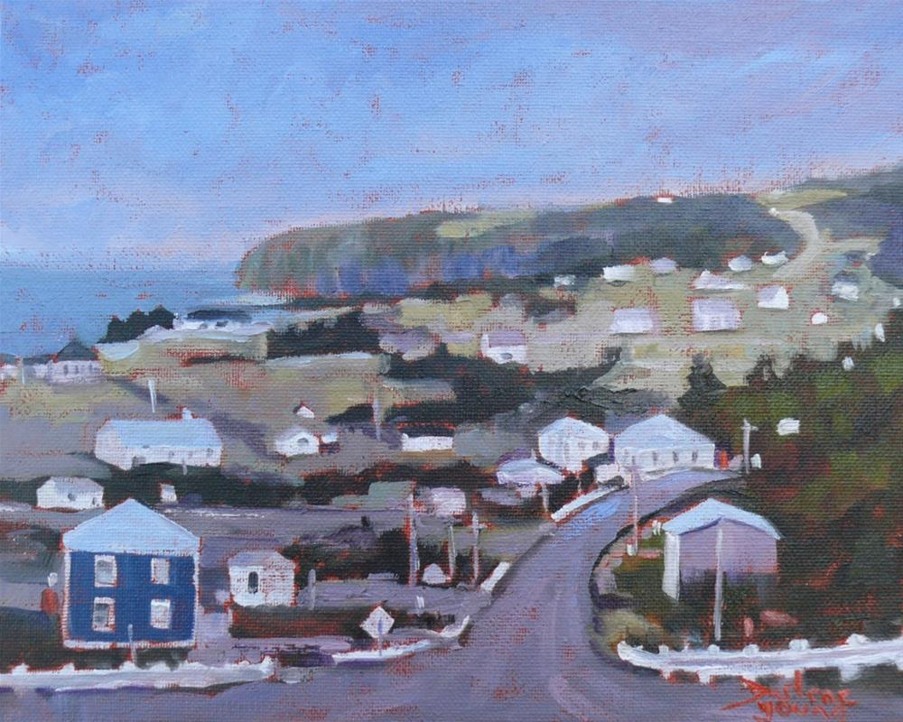 """1063 Gaspe Peninsula, 8x10, oil on baord"" original fine art by Darlene Young"