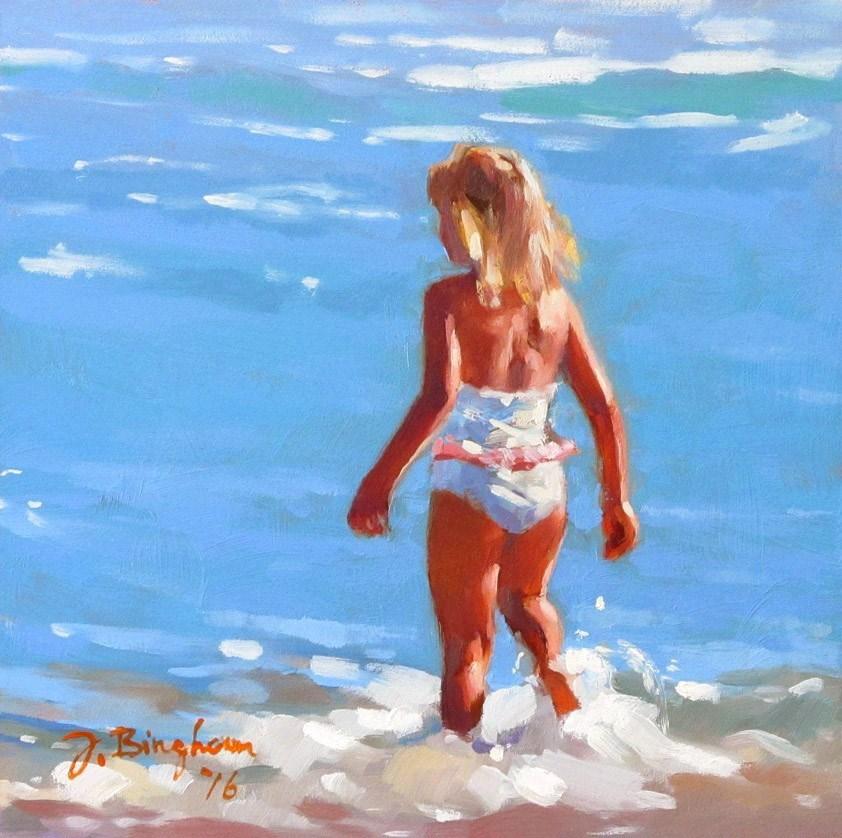 """Step Into Fun"" original fine art by Joanna Bingham"