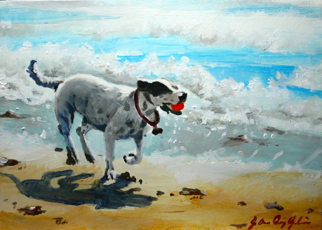 """Three Feet Off the Ground"" original fine art by JoAnne Perez Robinson"