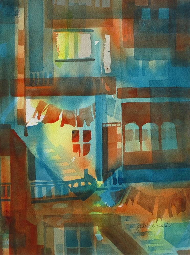 """Tenement"" original fine art by Julie Crouch"