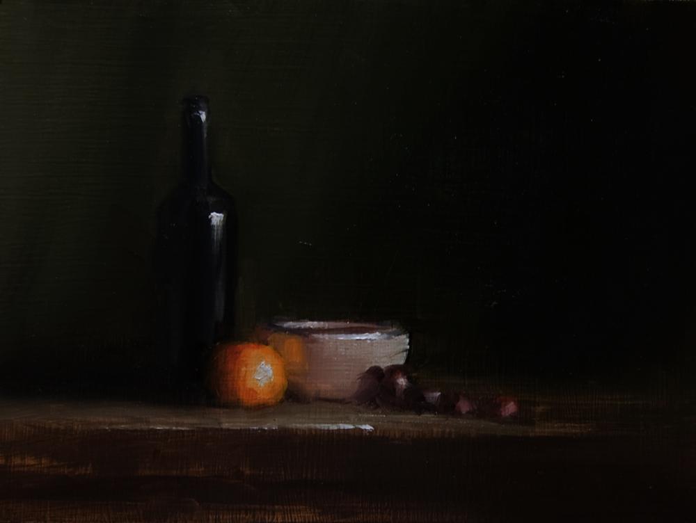 """Bottle and Bowl"" original fine art by Neil Carroll"