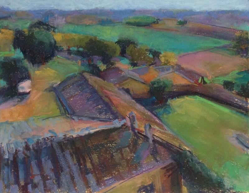"""Italian Rooftops Pastel"" original fine art by Patti McNutt"