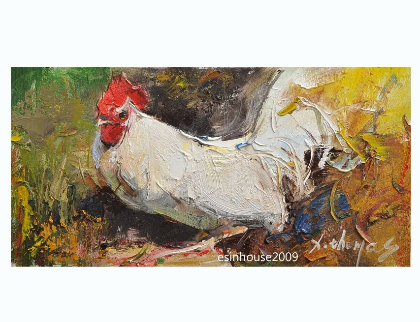 """rooster"" original fine art by Thomas Xie"