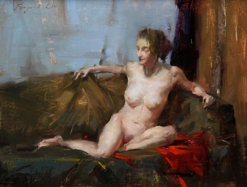 """""""Figure Series 12-01"""" original fine art by Fongwei Liu"""