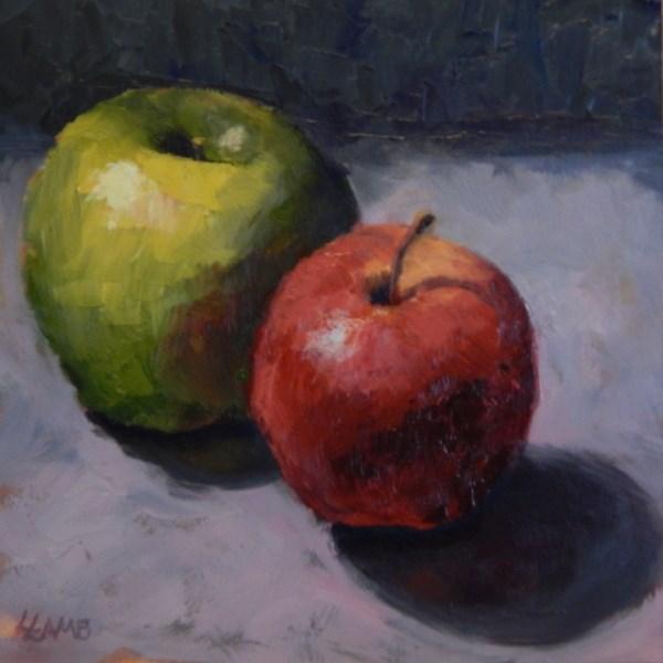 """Dos Manzanas"" original fine art by Lori Lamb"