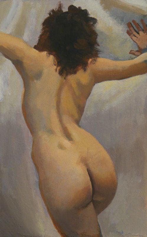 """Dynamic pose"" original fine art by Peter Orrock"