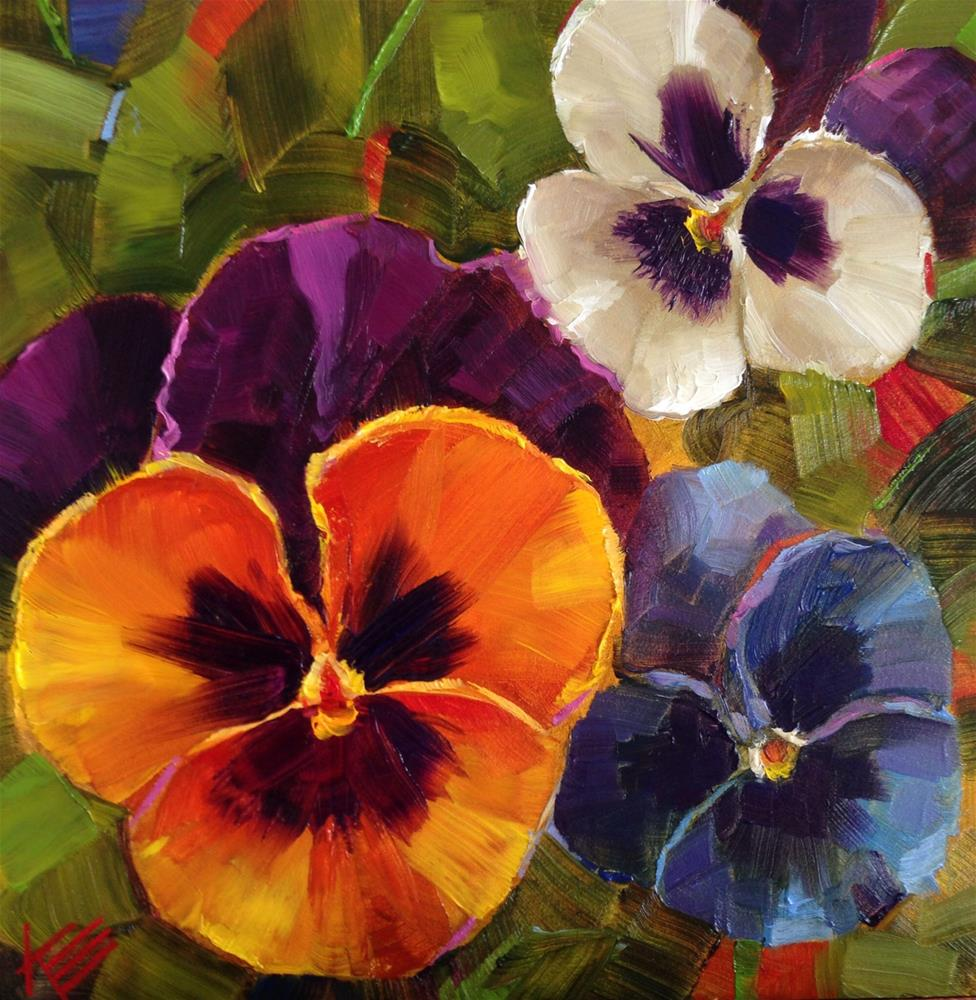 """""""Garden Faces"""" original fine art by Krista Eaton"""