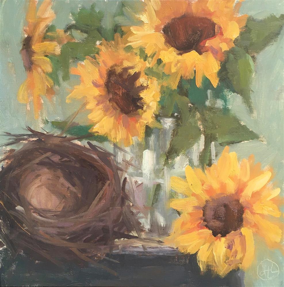 """""""love nest"""" original fine art by Dottie  T  Leatherwood"""