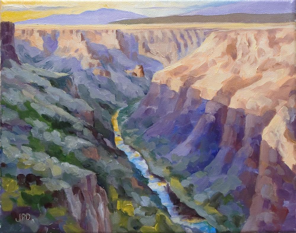 """""""Rio Grande Gorge"""" original fine art by Jean Pierre DeBernay"""